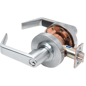 CRL D75STR Brushed Chrome Heavy-Duty Grade 2 Lever Locksets Storeroom - Schlage 6-Pin