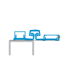 Select Hinges SL57 CL SD 95 CONTINUOUS HINGE, FULL SURFACE STANDARD DUTY, 95 INCHES CLEAR ALUMINUM