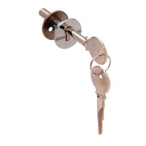CRL LK16 Chrome Lock for Cabinet Sliding Glass Door