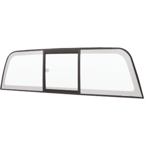 """CRL ECT804B """"Perfect Fit"""" Tri-Vent Slider with Clear Glass for 2004+ Chevy Colorado/GMC Canyon"""
