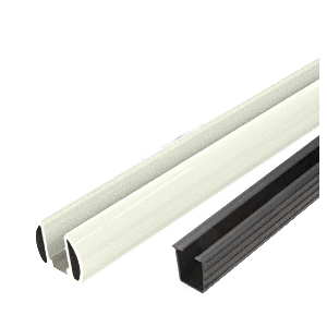 "CRL BR60K0W Oyster White AWS 60"" Bottom Rail Kit With Rigid Glazing Vinyl"