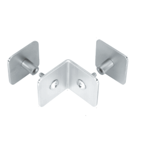 CRL PB002SC Satin Chrome Bullet Resistant Protective Barrier System 90 Degree Top or Mid-Mount Outside Clamp