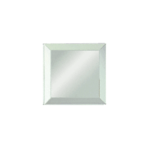 "Clear Mirror Glass 3"" Square Beveled on All 4 Sides"