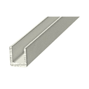 "CRL D631A Satin Anodized 1/4"" Single Aluminum U-Channel"