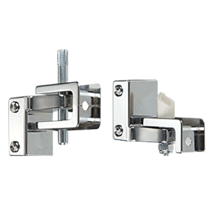 CRL TP735 Chrome Gravity Hinge Assembly for Restroom Partitions