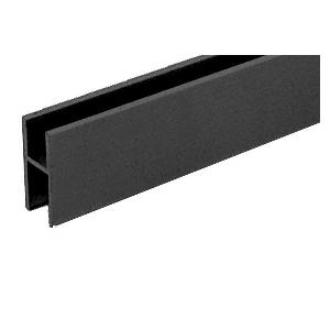 CRL D610BL Flat Black Aluminum 'H' Bar for Use on All CRL Track Assemblies