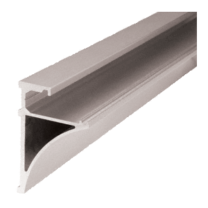 "CRL SE3896BN Brushed Nickel 96"" Aluminum Shelving Extrusion for 3/8"" Glass"