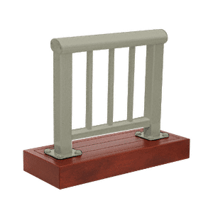 CRL ARS35PLBGY Beige Gray 350 Series Aluminum Picket Railing System Large Showroom Display