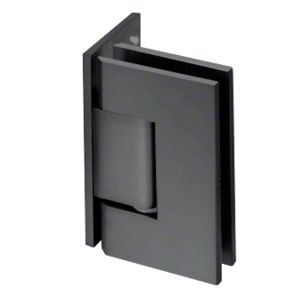 CRL GEN044ABL All Black Geneva 044 Series Wall Mount Offset Back Plate Hinge