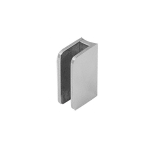 "CRL SA87BS Brushed Stainless Top Radius Base 3/8"" Glass Clip"