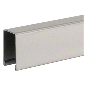 "CRL GRUC5BS10 Brushed Stainless U-Channel Cap for 1/2"" or 5/8"" Glass"