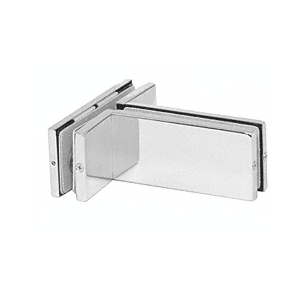 Polished Stainless Transom Mounted Patch Connector with Support Fin Bracket