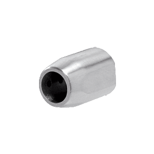 CRL LS106BS Brushed Stainless Laguna Series Top Sliding Tube Wall Mount End Cap