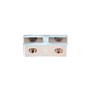 CRL E180A Chrome Anodized Aluminum Two-Way 180 Degree Glass Connector