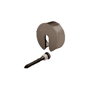 """CRL GR19SECDU Dark Bronze Stabilizing End Cap for 1.9"""" Cap Railing"""