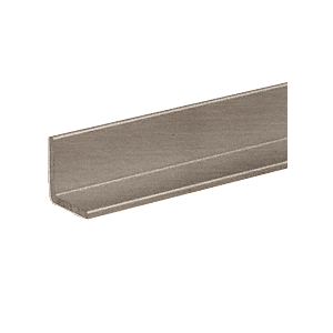 "CRL D1627BN Brushed Nickel 1/2"" Aluminum Angle Extrusion"