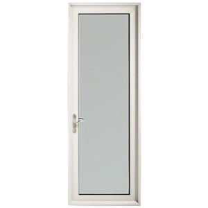 """White KYNAR Paint Series 900 Terrace Door Hinged Left Swing Out for 1"""" Glass"""