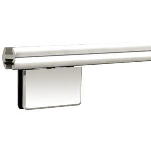 """CRL EHK98PNEXT Polished Nickel 95"""" EZ-Adjust Shower Door Header Only"""