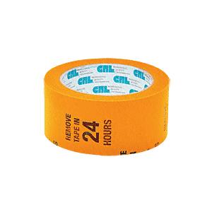 "CRL MT2W Orange 2"" Vinyl Molding Retention Tape - With Warning"