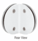 CRL CL090W White Classique Series Glass-to-Glass Bracket