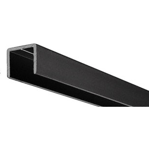 "CRL D604BL Flat Black Aluminum 1/2"" U-Channel"