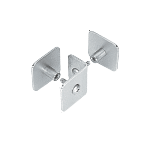 CRL PB010BS Brushed Stainless Bullet Resistant Protective Barrier System Top or Mid-Mount Buttress or Baffle Clamp