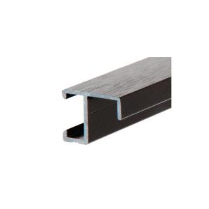 """CRL 4410BL Glossy Black Aluminum Picture Frame Molding 144"""" Stock Length"""