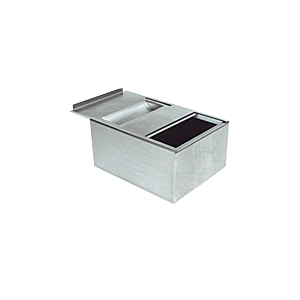 Brushed Stainless Sliding Deal Drawer and Pass-Thru Bin