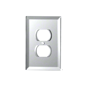 Clear Duplex Plug Glass Mirror Plate