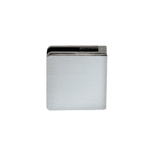 "CRL Z912BS Brushed Stainless Z-Series Square Type Flat Base Stainless Steel Clamp for 1/2"" Glass"