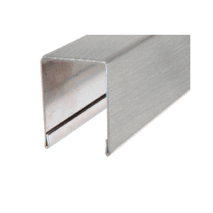 """CRL GRUC7BS10 Brushed Stainless U-Channel Cap for 3/4"""" Glass"""