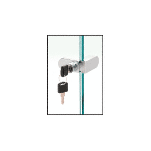 CRL 255CHKA Chrome Keyed Alike No-Drill Showcase Lock
