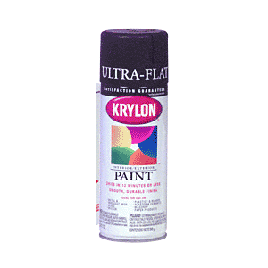 KRYLON KP1602 Ultra-Flat Black Spray Paint