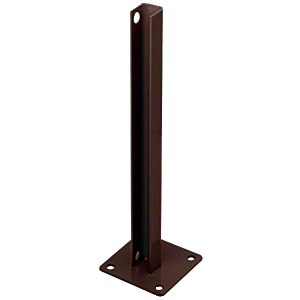 CRL PSB1CBRZ Matte Bronze AWS Steel Stanchion for 180 Degree Round or Rectangular Center or End Posts