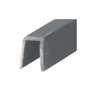 "CRL GR7PV Black Rigid 3/4"" U-Channel Cap Rail Vinyl - 120"""