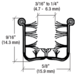 """CRL Y52896 Y528 Flexible Universal Channel for 1948-1962 Vehicles - 96"""" Length"""