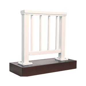 CRL ARS2PL Sky White 200 Series Aluminum Picket Railing System Large Showroom Display