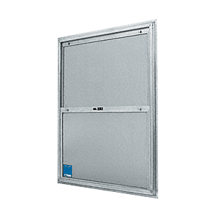 "CRL BACP268 20-3/4"" x 38-3/4"" Bel-Air ""Plaza"" Replacement for Competitive Combination Unit with Clear Tempered Glass and Mill Frame for 1-3/8"" 2-6 Door"