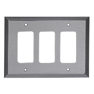CRL MMP16BN Brushed Nickel Triple Designer Metal Mirror Plate