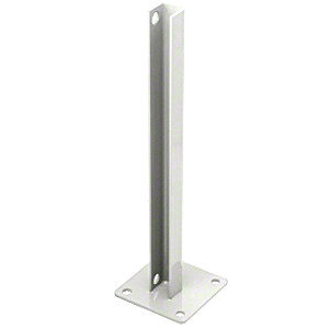 CRL PSB1CW Sky White AWS Steel Stanchion for 180 Degree Round or Rectangular Center or End Posts