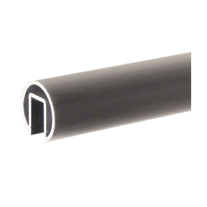 "CRL GR19DU Dark Bronze 1.9"" Extruded Aluminum Cap Rail for 1/2"" or 5/8"" Glass - 240"""