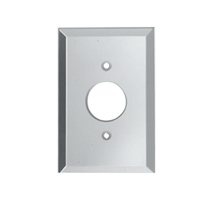 "CRL GMP1C Clear Single Plug 1-3/8"" Hole Glass Mirror Plate"