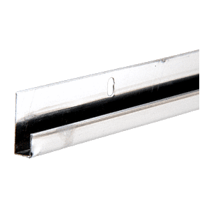 """CRL SS960 Stainless Steel 1/4"""" J-Channel 144"""" Stock Length"""