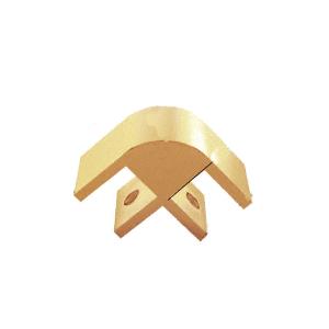 "CRL E238GA Gold 2-Way 90 Degree Standard Connector for 3/8"" Glass"