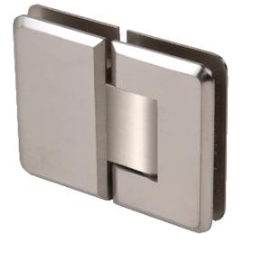 CRL P1N180BN Brushed Nickel Pinnacle 180 Series 180 Degree Glass-to-Glass Standard Hinge