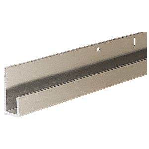 "CRL D636BN Brushed Nickel 1/4"" Standard Aluminum ""J"" Channel"
