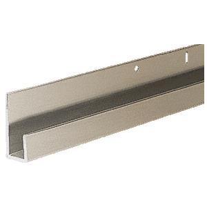 """Brushed Nickel 1/4"""" Standard Aluminum """"J"""" Channel"""