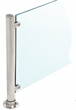 "CRL PP56EBS Brushed Stainless 18"" High 1"" Round PP56 Slimline Series Straight Front Counter/Partition End Post"