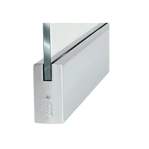 """CRL DR4SBS12S Brushed Stainless 1/2"""" Glass 4"""" Square Door Rail Without Lock - 35-3/4"""" Length"""