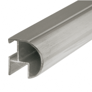 """CRL BF144BN Brushed Nickel Bull Nose Mirror Frame Extrusion 144"""" Stock Length"""
